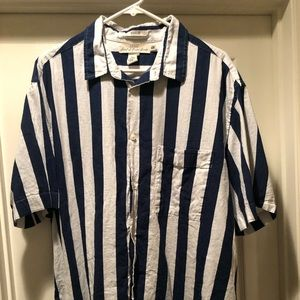 H&M Stripe Short Sleeve Polo Shirt